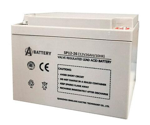 Аккумулятор A-Battery SP12-26 (12V26AH/10HR)