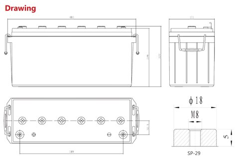Аккумулятор Sacred Sun SPG12-500W 12V140Ah