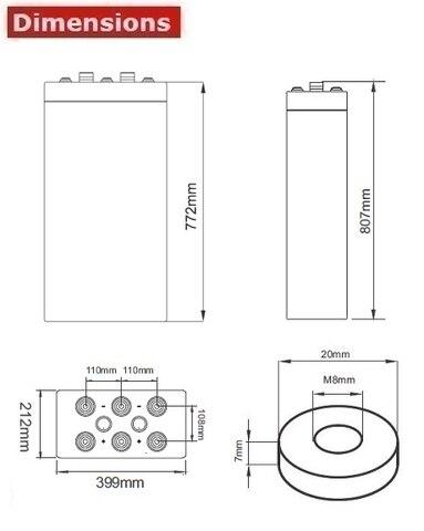 Аккумулятор A-Battery 16OPzV2000 (2V2000AH/10HR)