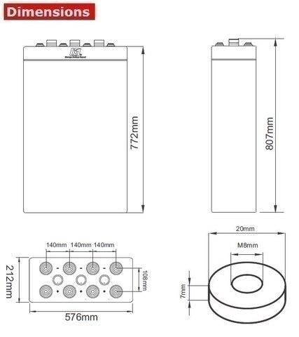 Аккумулятор A-Battery 24OPzV3000 (2V3000AH/10HR)