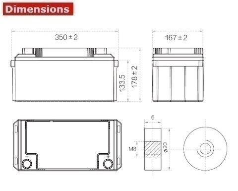 Аккумулятор A-Battery 6GFMJ65 (12V65AH/10HR)