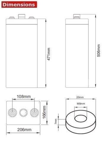Аккумулятор A-Battery 7OPzV500 (2V500AH/10HR)