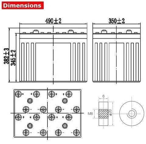 Аккумулятор A-Battery GFM-2000C (2V2000AH/10HR)