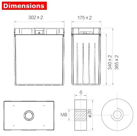 Аккумулятор A-Battery GFM-600C (2V600AH/10HR)