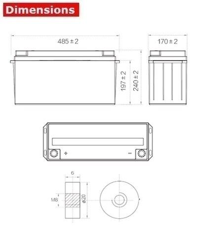 Аккумулятор A-Battery SP12-150 (12V150AH/10HR)