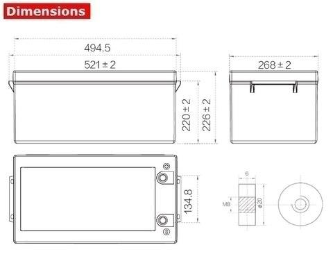 Аккумулятор A-Battery SP12-250 (12V250AH/10HR)