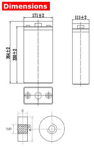 Аккумулятор A-Battery GFM-200C (2V200AH/10HR)