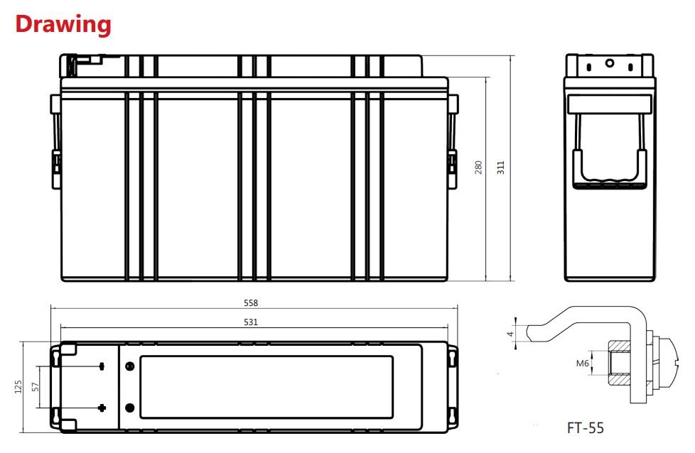 Аккумулятор Sacred Sun FAJ12-150A 12V150Ah