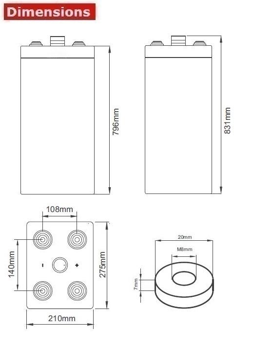 Аккумулятор A-Battery 15OPzV1500 (2V1500AH/10HR)