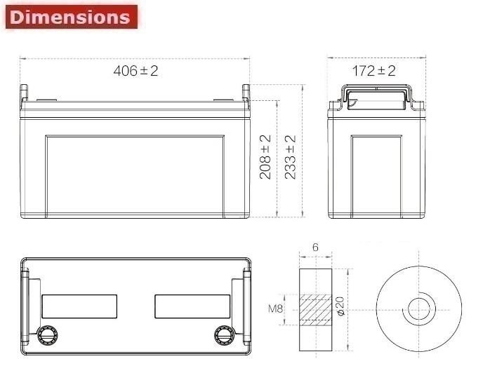 Аккумулятор A-Battery 6GFMJ120 (12V120AH/10HR)