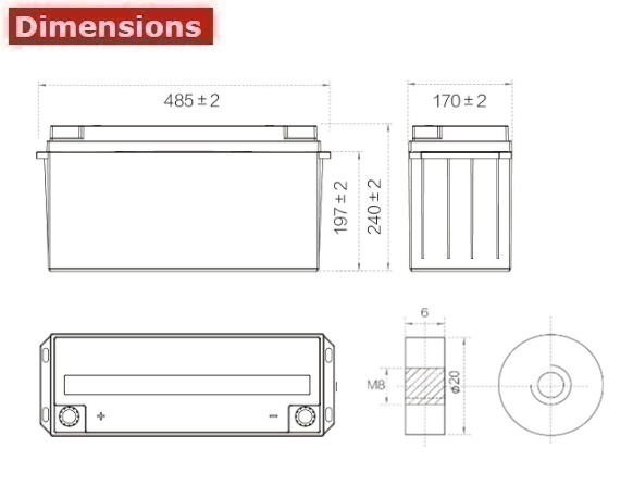 Аккумулятор A-Battery 6GFMJ150 (12V150AH/10HR)