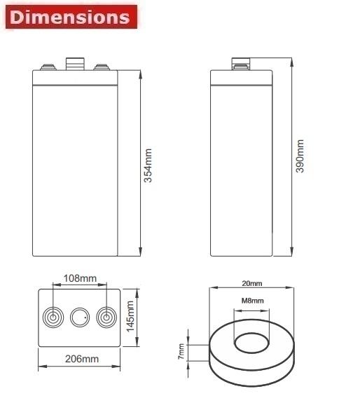 Аккумулятор A-Battery 6OPzV300 (2V300AH/10HR)