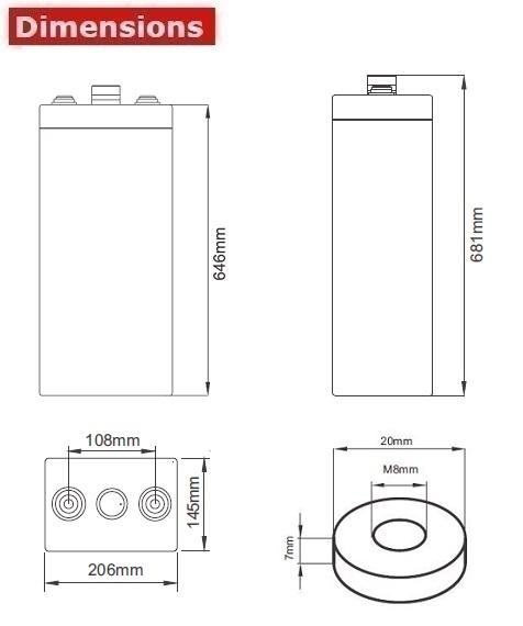 Аккумулятор A-Battery 6OPzV600 (2V600AH/10HR)