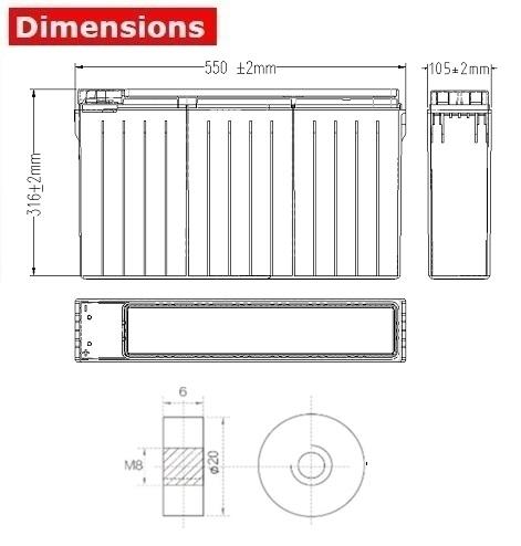 Аккумулятор A-Battery FT12-125 (12V125AH/10HR)