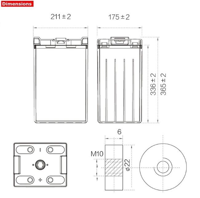 Аккумулятор A-Battery GFM-400C (2V400AH/10HR)