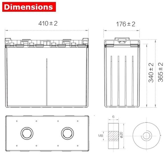 Аккумулятор A-Battery GFM-800C (2V800AH/10HR)